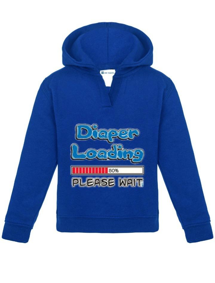 printed hoodie royal blue be babybe baby. Black Bedroom Furniture Sets. Home Design Ideas