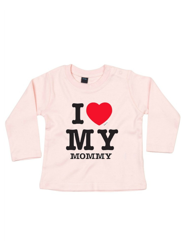 Shirt Licht Roze I Love My Mommy Be Babybe Baby