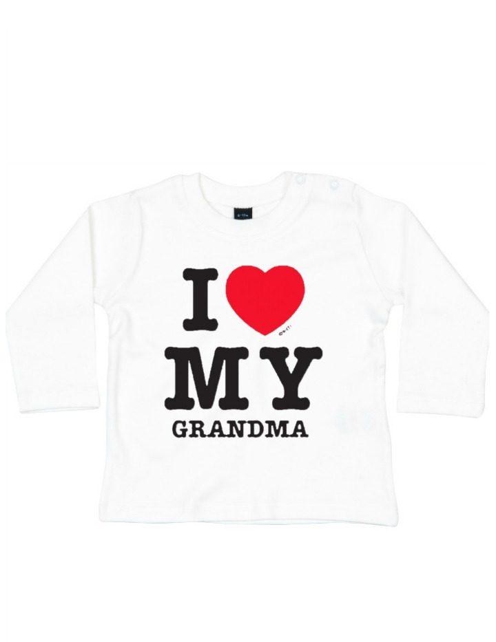 Baby Shirt I love my grandma